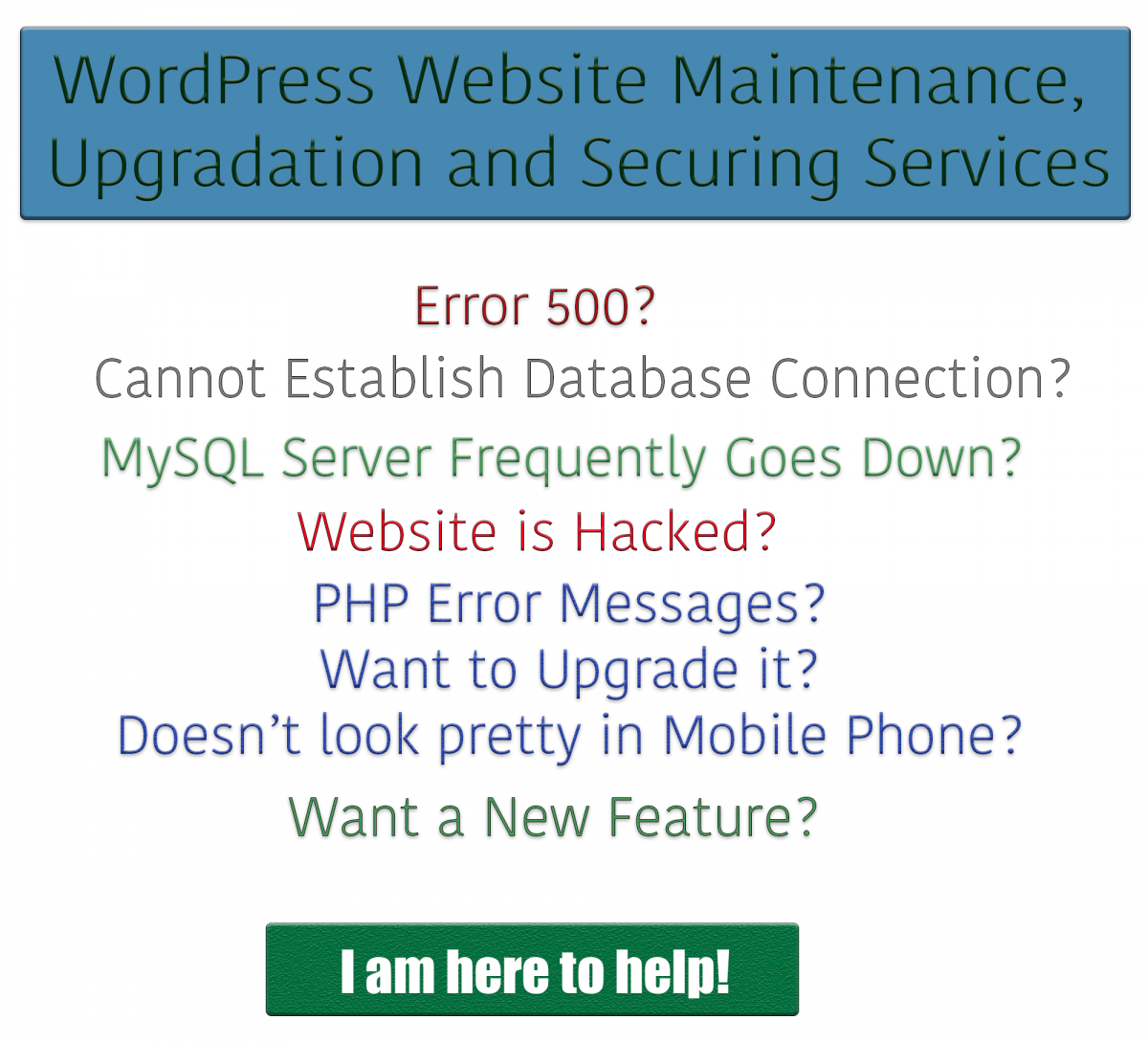 WordPress website maintenance, upgradation and securing